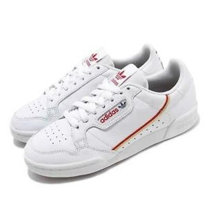 ADIDAS White Red Continental 80 Sneaker 6
